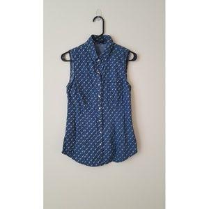 Forever21 jean sleaveless blouse